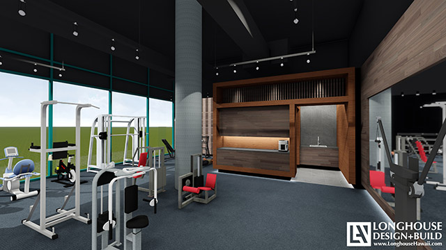 Waikiki Landmark Fitness Center-REndering